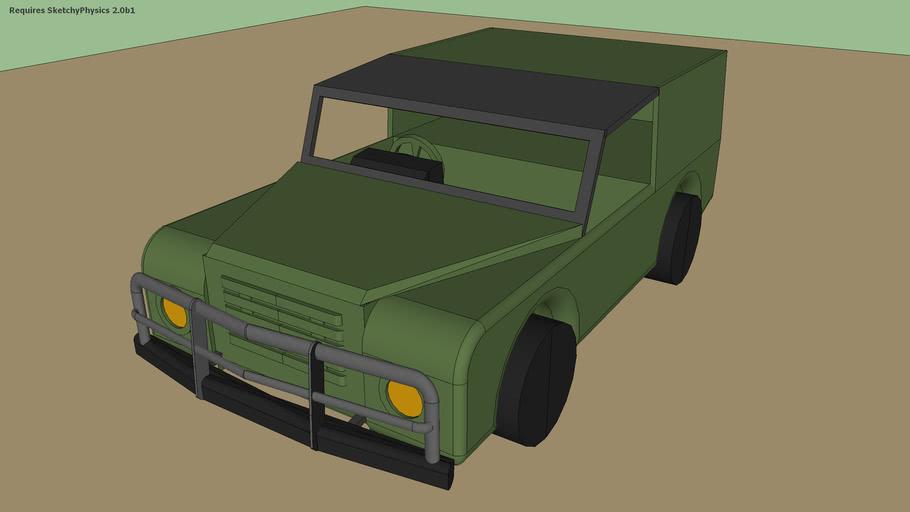 army land rover sketchyphysics