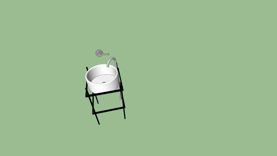 vasque meuble métal tube