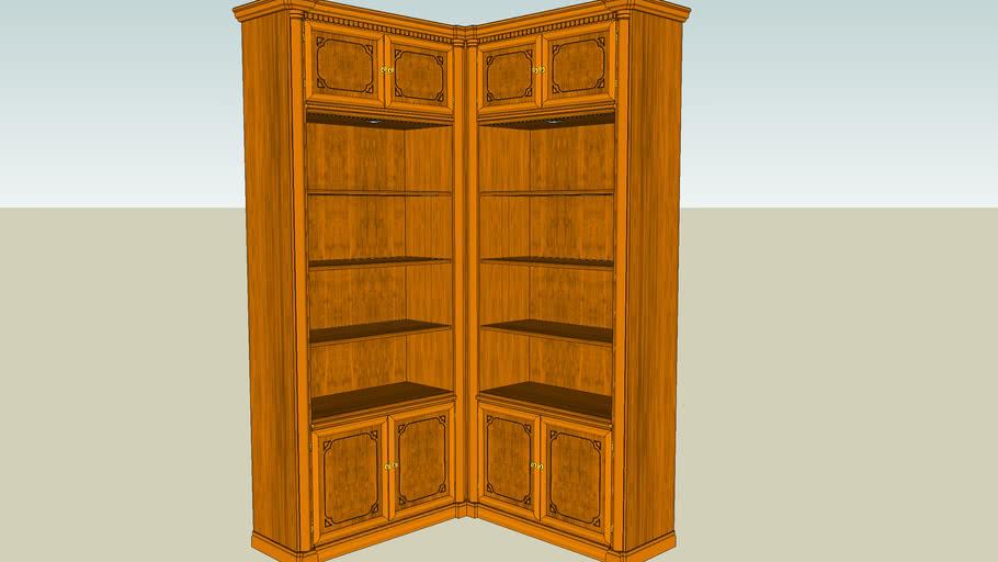 Bücherregal mit Eckteil 90°
