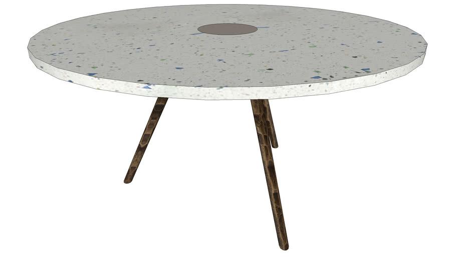 83380 Coffee Table Terrazzo White 92cm