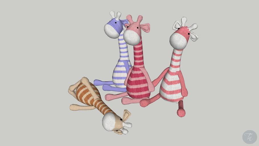 Girafas de pelúcia