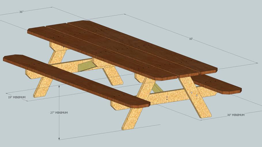 ADA Compliant Picnic Table