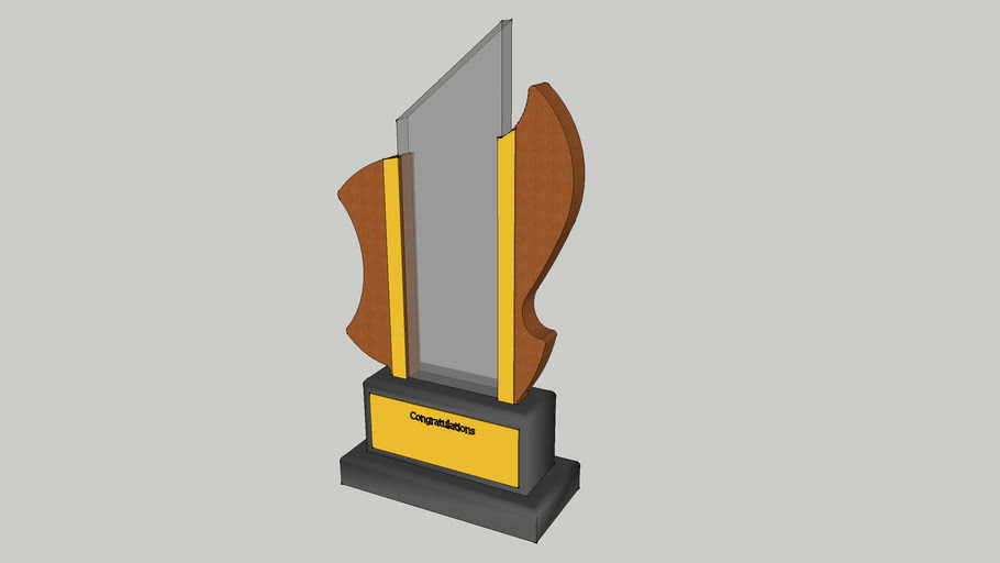 Trophy (glass/plastic and wood)