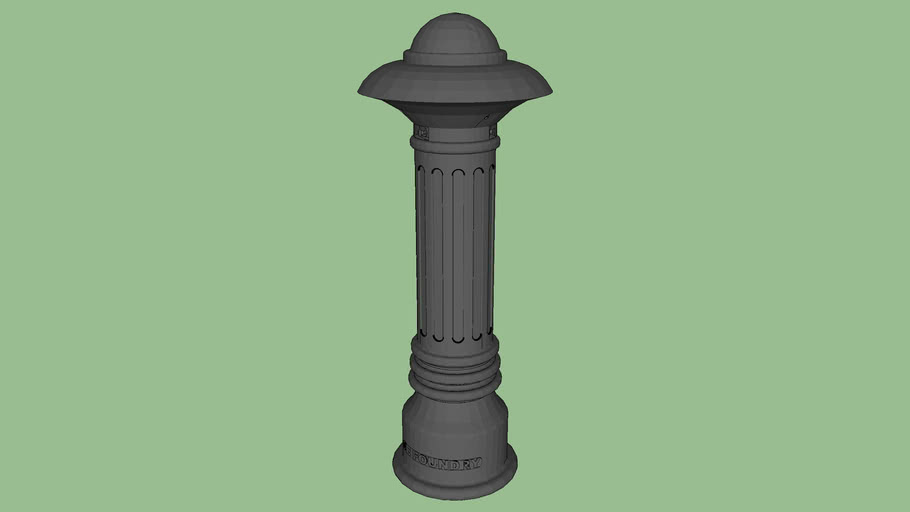 R-7598 Fluted Ductile Iron Bollard