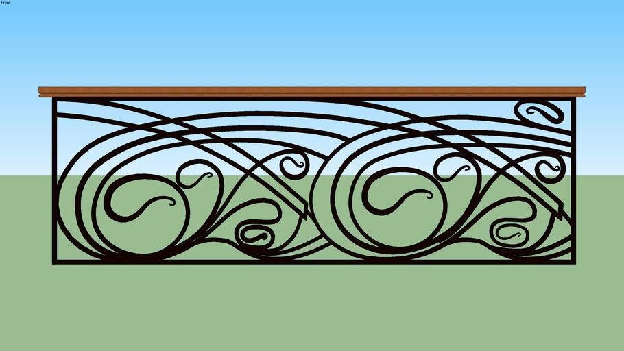 Art-Deco Rail Long