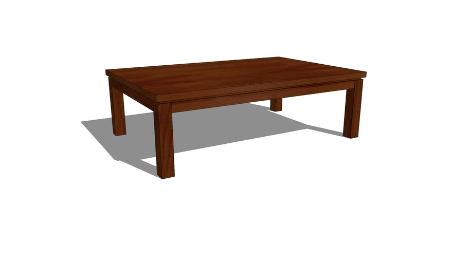Simple Wooden Coffee Table 3d Warehouse