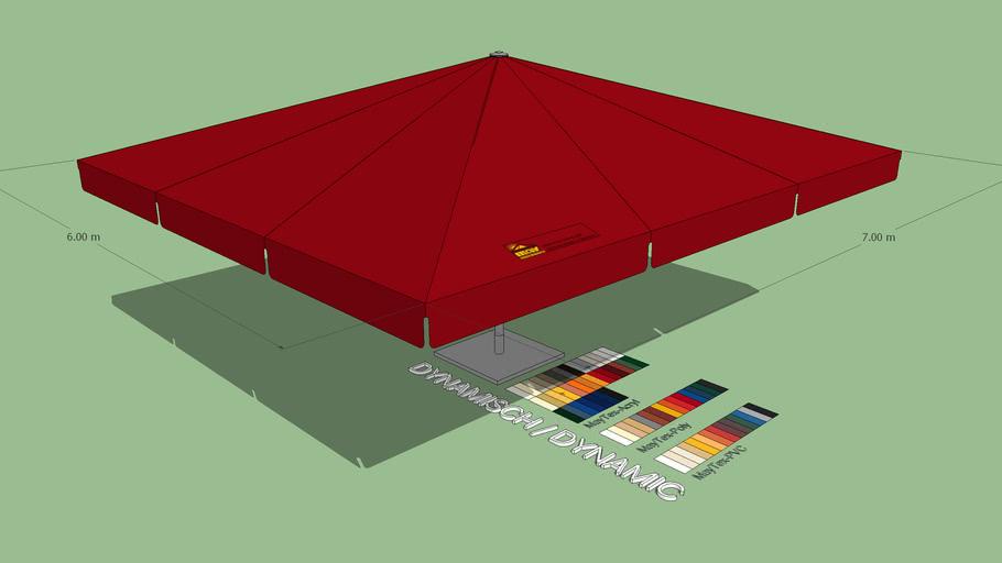 May Albatros 6x7m Rectangular Giant Umbrella