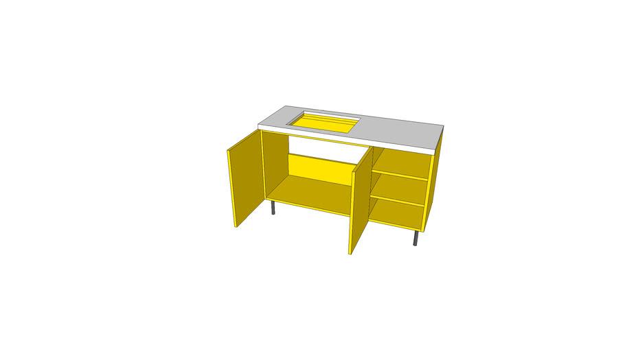 我家的台盆柜模型