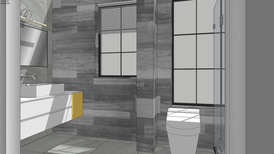 Bathroom Toilet 卫生间 Gray Modern