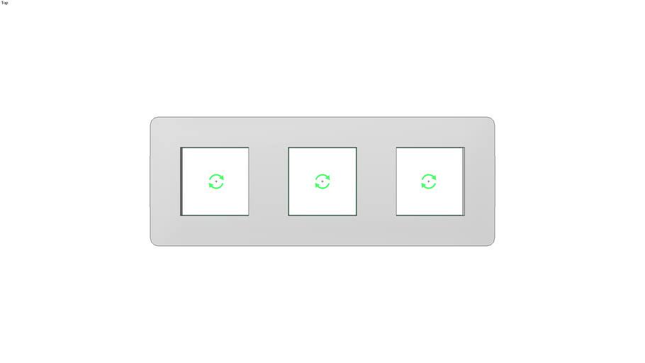 Unica Studio Frame 3 gang, aluminum