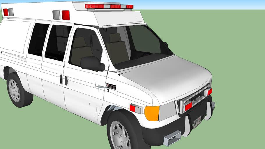 ambulance type ll ford f350 econoline mdoel 2001