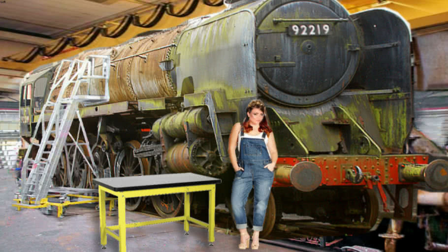 """""""- Locomotives - by Mylyn """"9F 92219""""... Heavy...  1st Stage of 5... My Visual Diary..."""