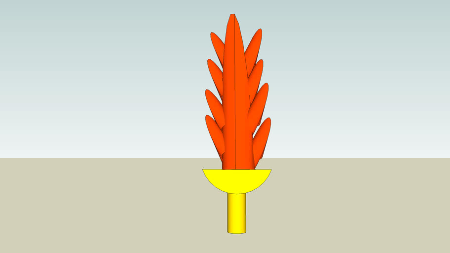 the orange cactus fire sword