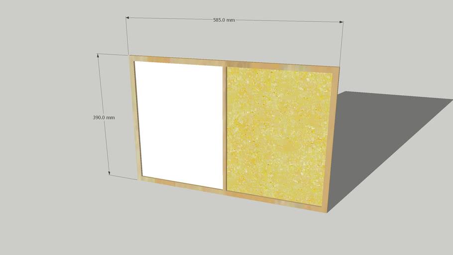 Noticeboard 390mm x 585mm