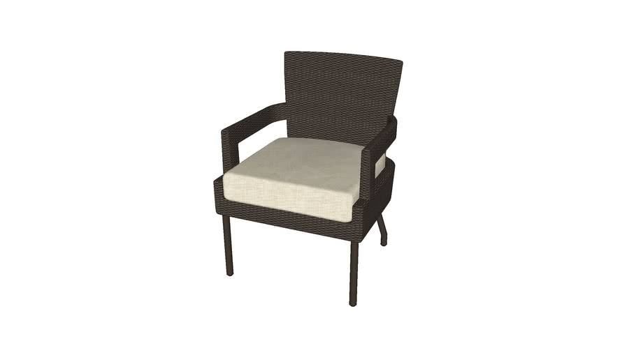 Mcguire Barbara Barry Outdoor Key Dining Arm Chair 3d Warehouse