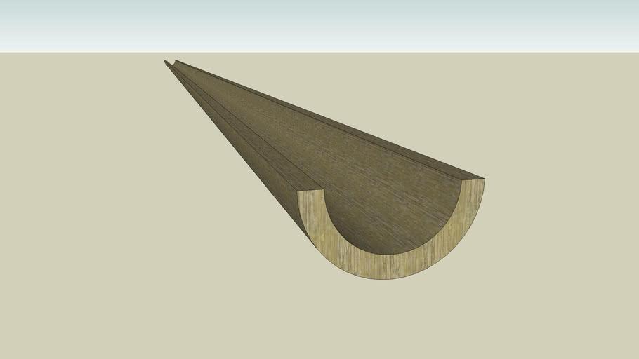 Wooden gutter