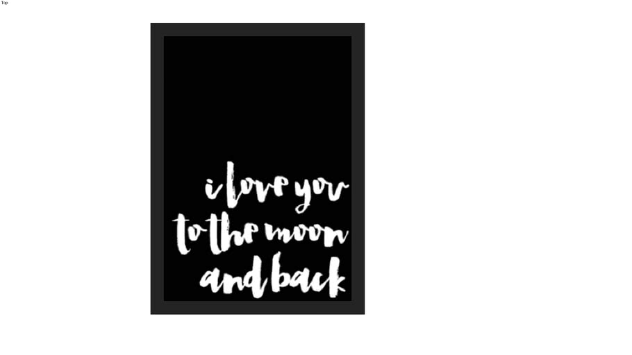 POSTER I LOVE TO THE MOON AND BACK (PRETO)