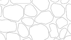 Mosaic - Sketchup Hatch Pattern - Cobble - Buechel Thin Vene