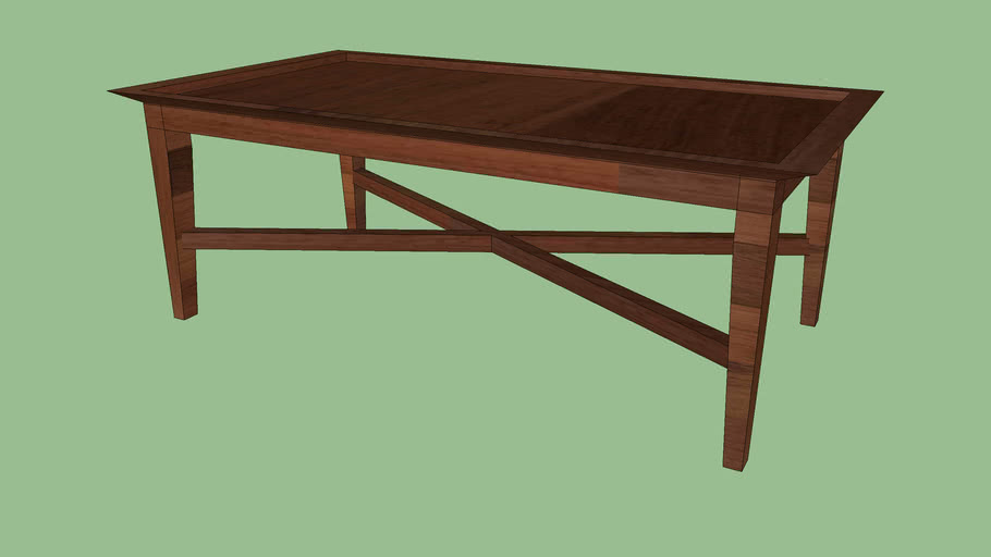 Crate Barrel Bradley Walnut Coffee Table With Drawers 3d Warehouse