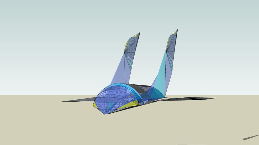 Futuristic Space Plane/ Observatory; Generation X Shuttle: Dragonfly Insectus