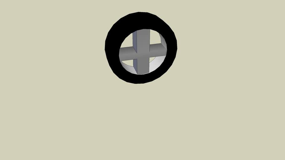 cross wheel or window