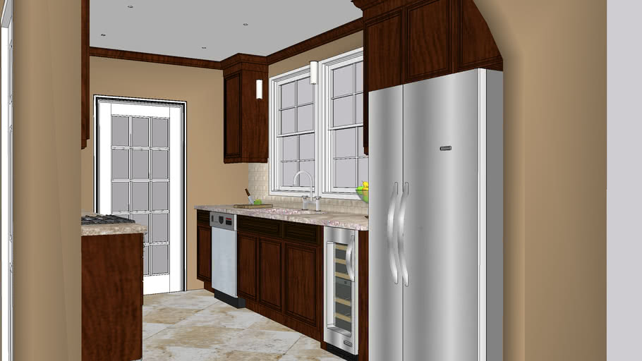 Small Galley Kitchen Remodel 3d Warehouse