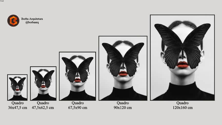 Quadro BLACK BUTTERFLY - Dada22