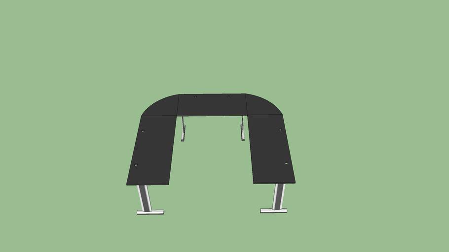 3 mesas de escritorio conjugadas 1,5 x 1,2