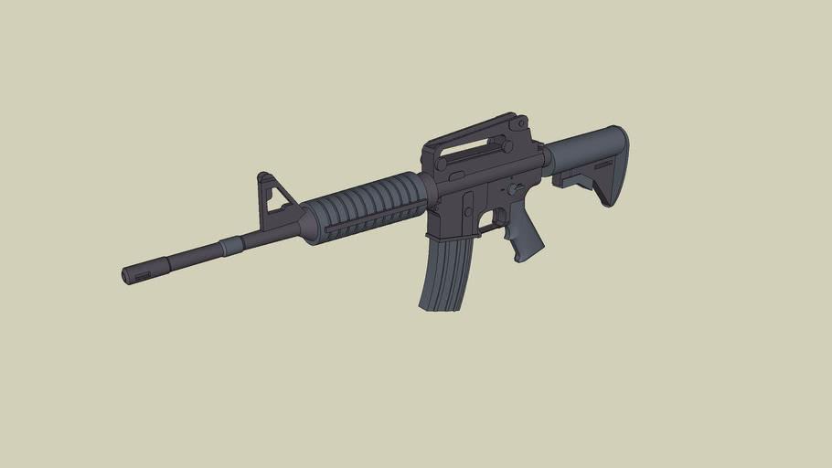 m4 assault rifle.