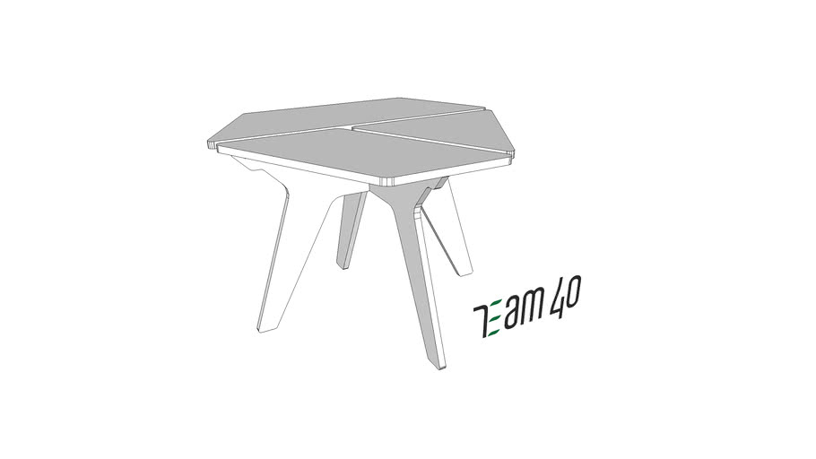 Стол журнальный 01 Team 40 (Coffee table)