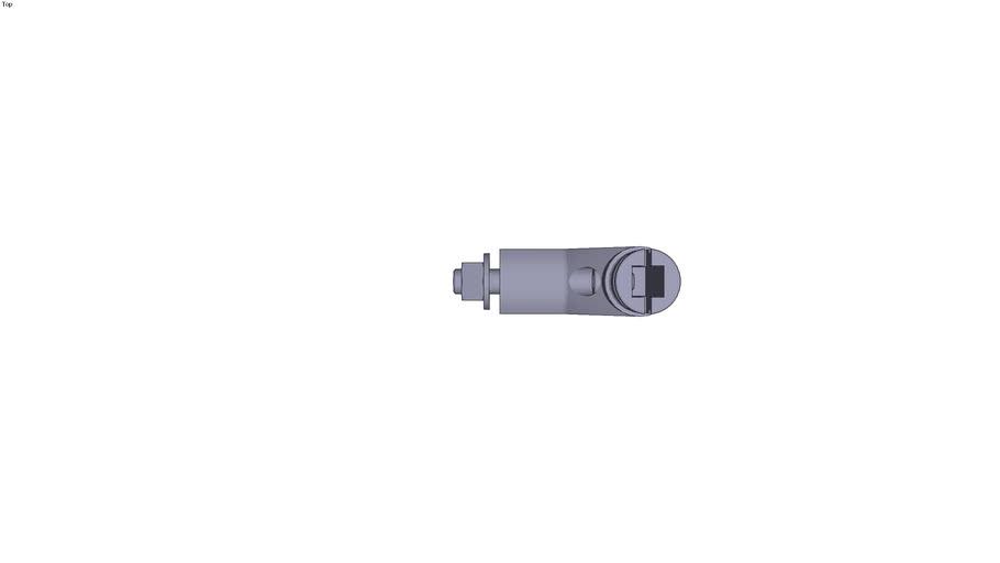 Handle type Cesar aluminium - end Standard version