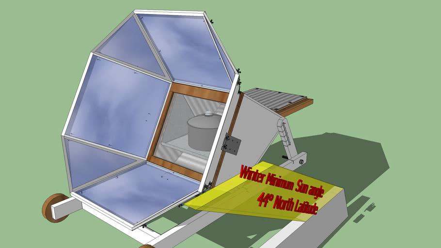 Solar Oven cardboard insulation version