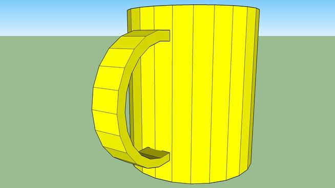 Cheery yellow mug