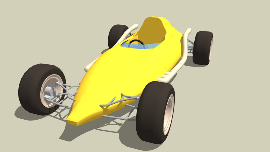 OLD RACE CAR with exaust and suspension