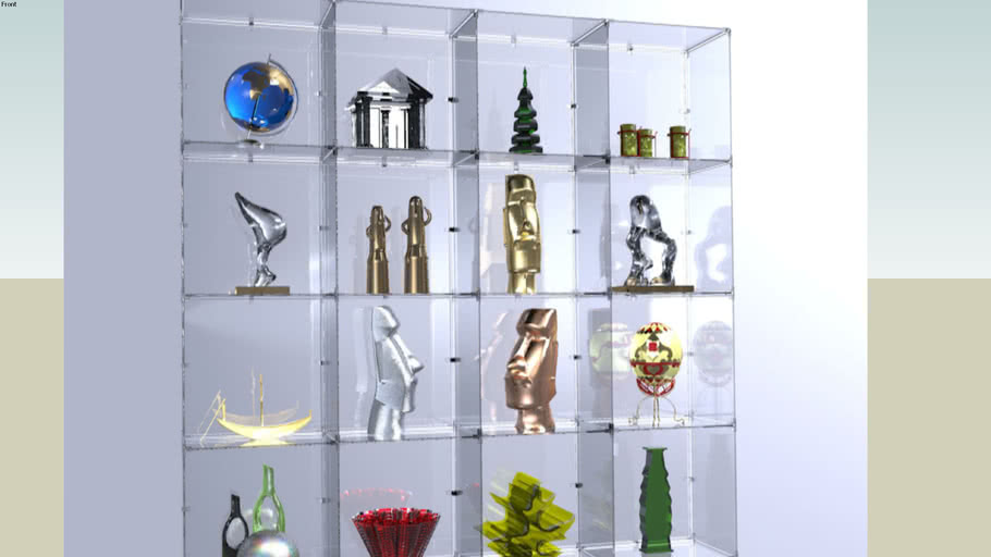 Glass Cube Display by Smart Fixtures, 4 x 4