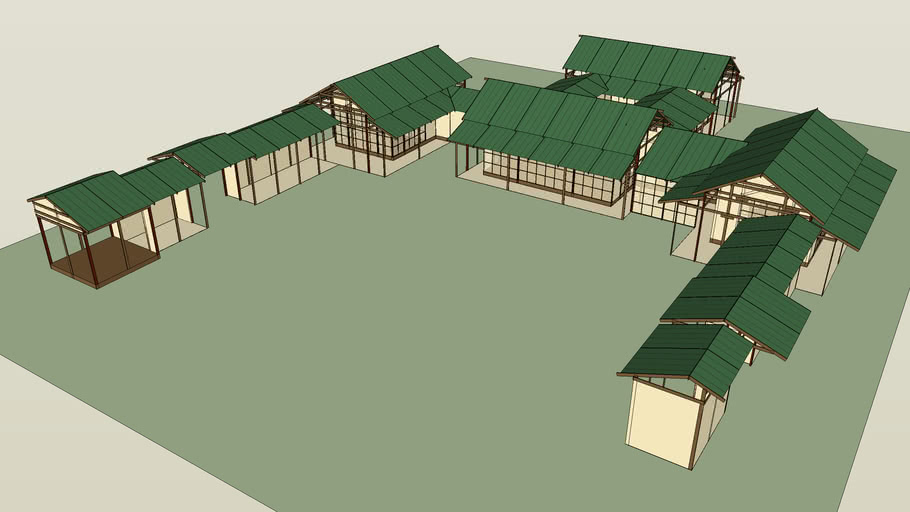 Japanese Shinden Palace, plan