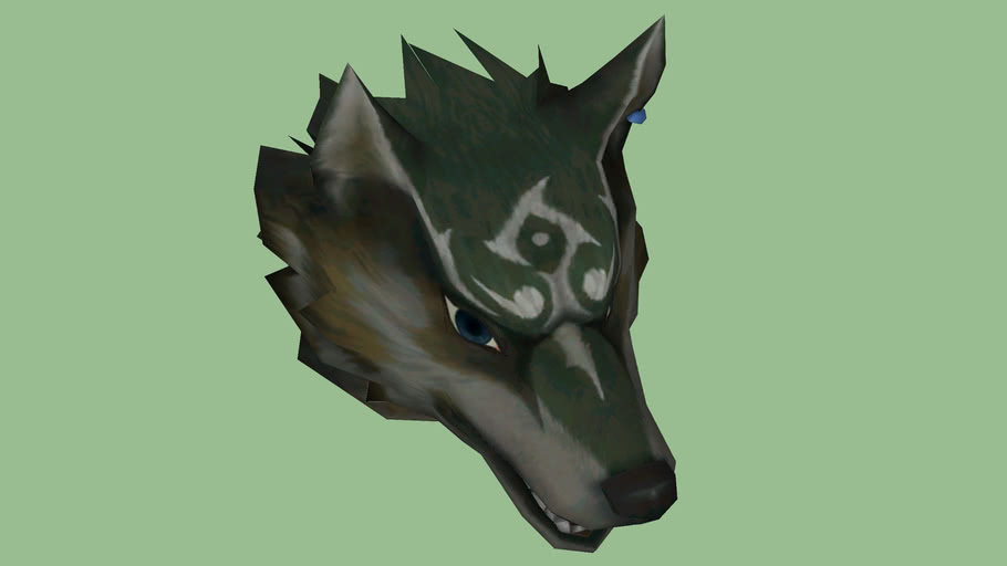 wolf head (for another project)