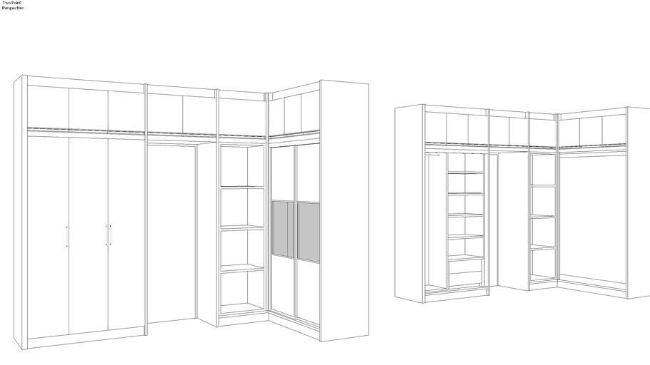 l shape wardrobe 3d warehouse l shape wardrobe 3d warehouse