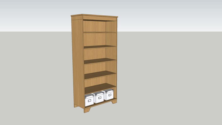 Modern Bookcase finished in Oak