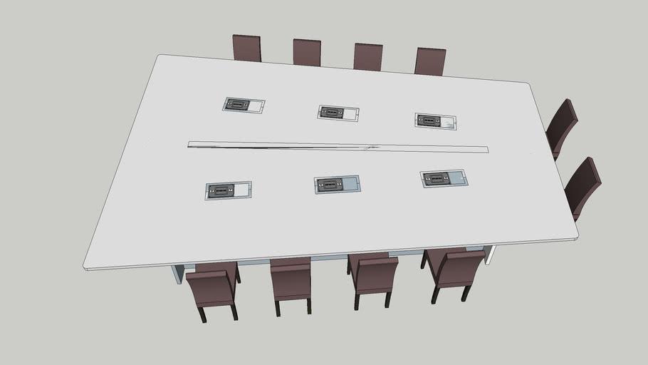 Grande table en V 10 places