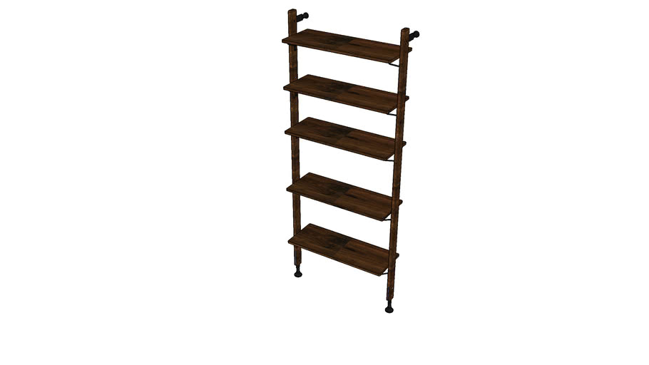 THEO WALL UNIT WITH MEDIUM SHELVES MKO166-S-M