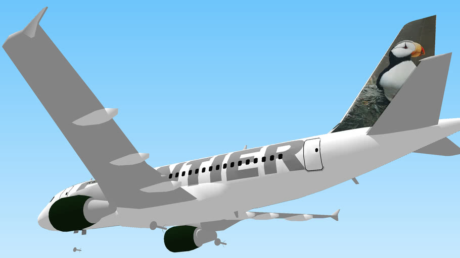 Frontier Airlines (2012) - Airbus A319 Landing gears up.