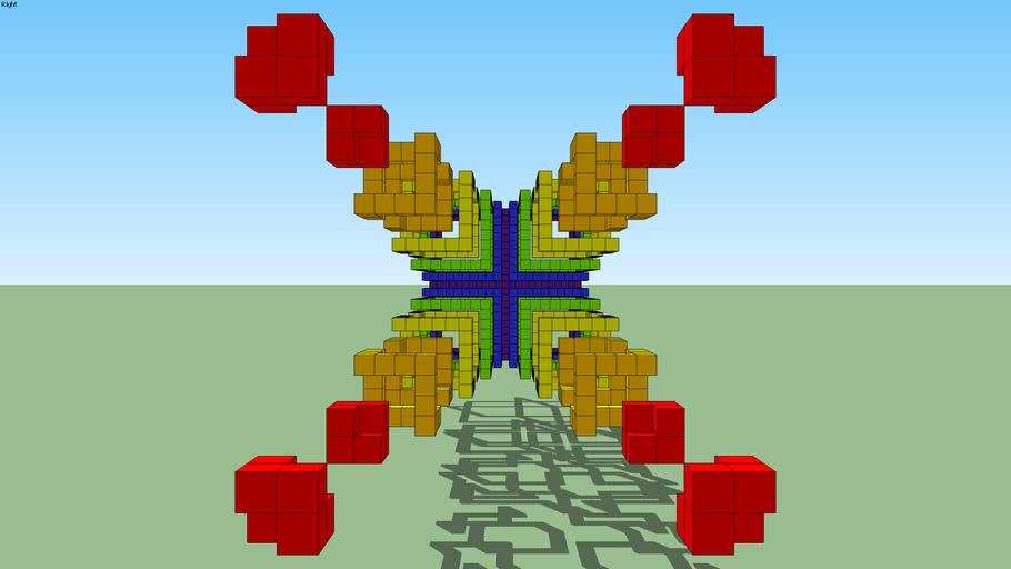 3D Cube - 6 Sketchup