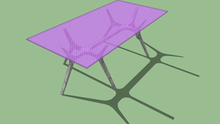 3D Table - 4 Sketchup