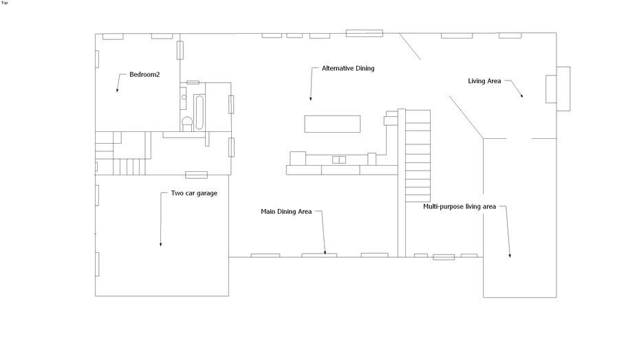 blueprint floor 1 of large type home