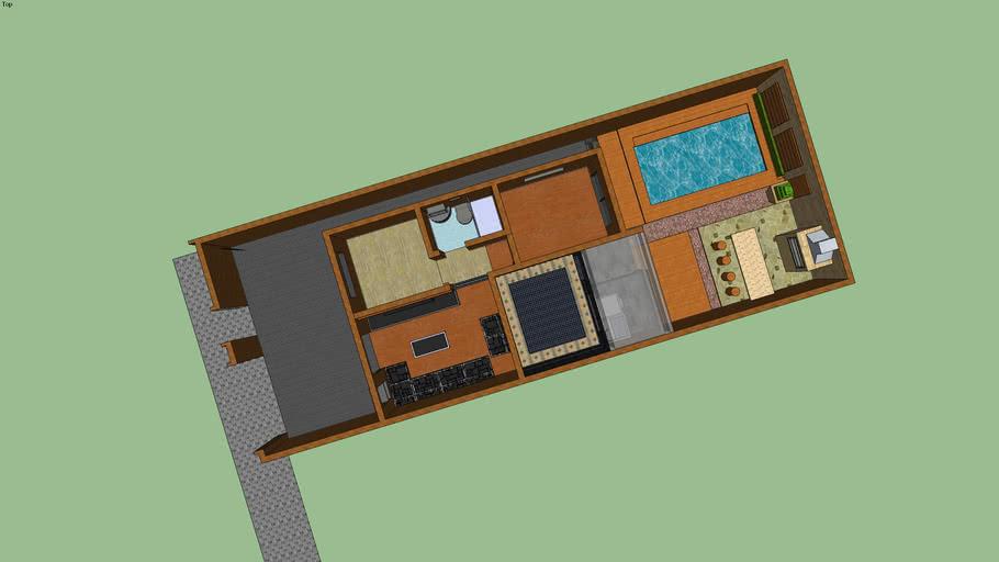 Casa Pequena Confortavel, Terreno 21 x 8