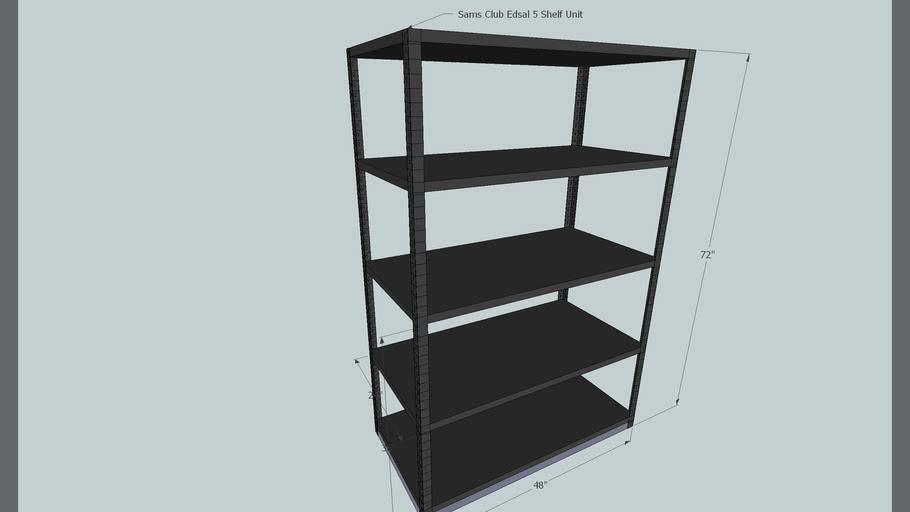 Sams Club Edsal 5 Shelf Unit