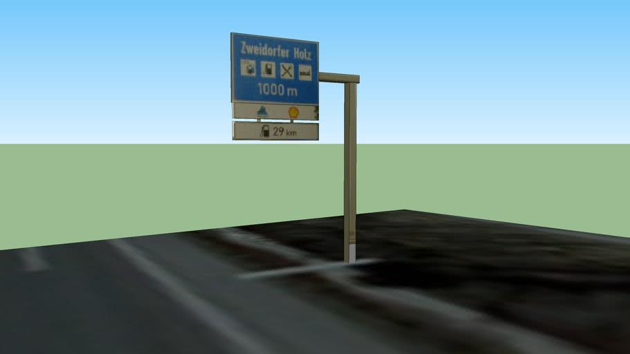 Schild Autobahn, BAB2