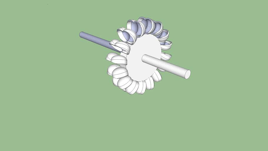 Turbina Pelton de fabricación artesanal