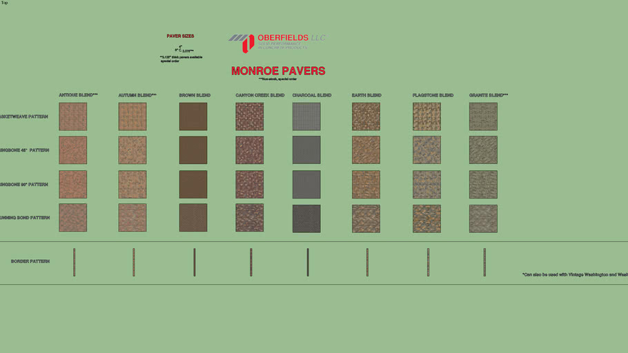 Oberfields Monroe Paver Series
